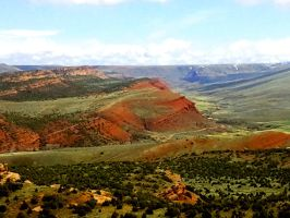 Red Canyon North by michaelgoldthriteart