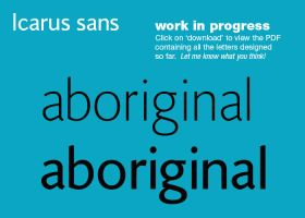 Icarus Sans Typeface preview by MartinSilvertant