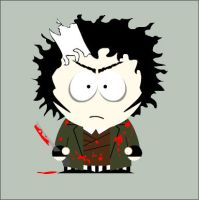 Sweeney Todd in South Park by Onizzuka