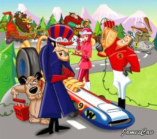 The Wacky Races by JamesCav