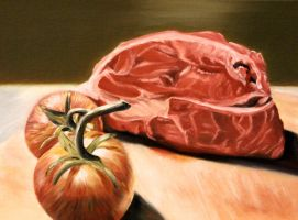 Meat and Tomatoes by Maciesowicz