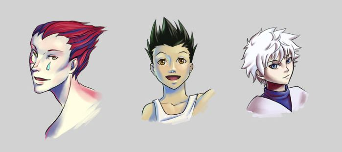 HunterxHunter sketches by Corrupted-Mooch