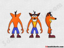 Crash Bandicoot blueprint by hhh316