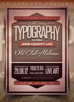 Typography Poster by IndieGround