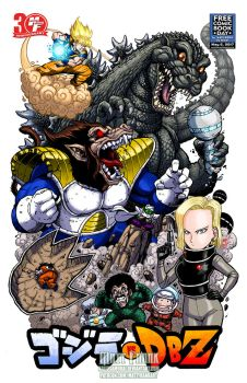 Godzilla vs Dragonball Z FCBD version by KaijuSamurai