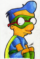 Milhouse as Fallout Boy by LeeRoberts