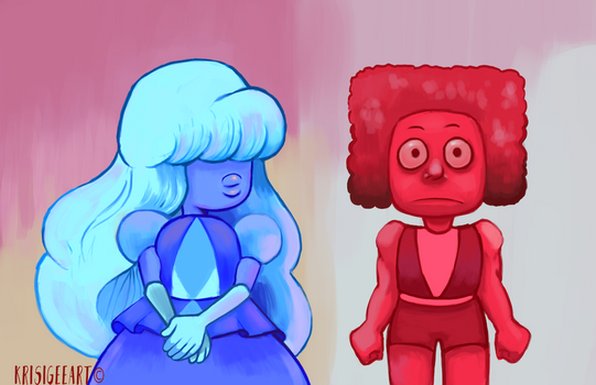Ruby and Sapphire Paintover by crash-burn-implode