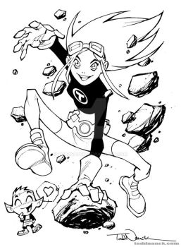 Teen Titans Go: Terra inks by ToddNauck