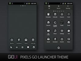 Pixels Go Launcher Theme by giouiteam