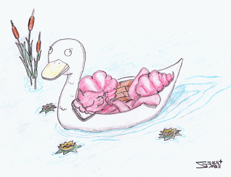 Pinkie on a Swan Boat by S-Guide