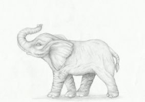 The elephant (school project) by Yuniegard