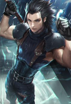 Zack Fair by sakimichan