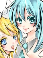 Vocaloid Miku and Lin by tip3361