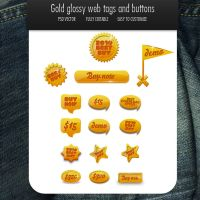 Gold 16 web elements by oliverstoys