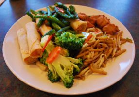 All-You-Can-Eat Vegan Food by BlueBluebutterfly05