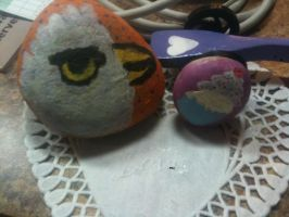 Some old painted rocks by muffinthehamster11