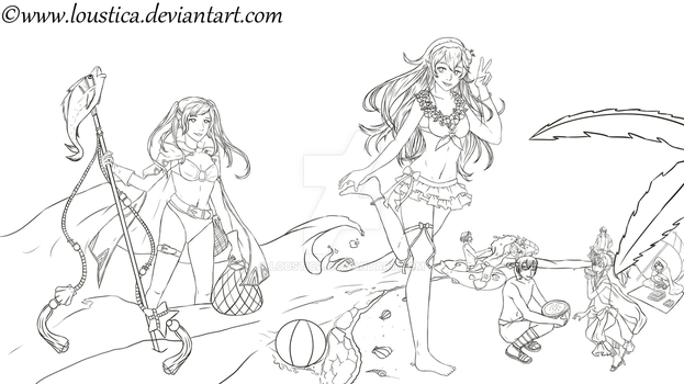 FE:Heroes - Summer Days [WIP] by Loustica