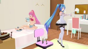 MMD Size/Gaming Party by XryXmas