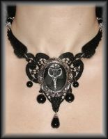 Gothic necklace 'The Raven' by TheSpiderStratagem