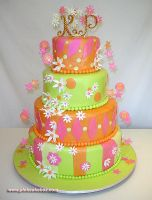 Whimsical Wedding Cake by pinkcakebox