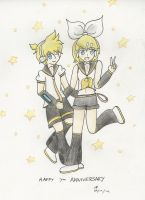 Happy 7th Birthday Rin And Len! by Riveree