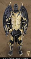 Leather Dragon Fantasy Armor Complete by Azmal