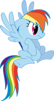 Shocked Rainbow Dash by RedPandaPony