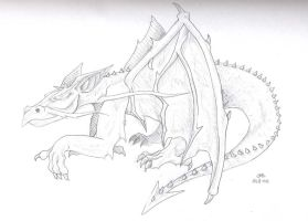 another dragon sketch by j-m-s