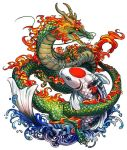 Dragon and Koi Commssion by yuumei