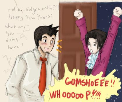 PWPC 1: Gumshoe's New Years by LuckyBlackCatXIII