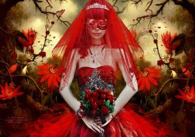 The mask wedding by annemaria48