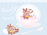 [Open Auction] TeaTime Friend - Puppuccino by SquiggleCakes