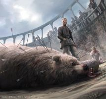 Jaime Lannister and Brienne of Tarth by 1oshuart