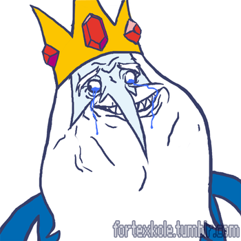 FOREVERALONE!Ice King by kole