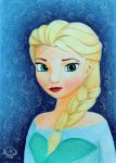 Young Elsa by farbwirbel