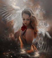 The sadness of the angel by Adriana-Madrid
