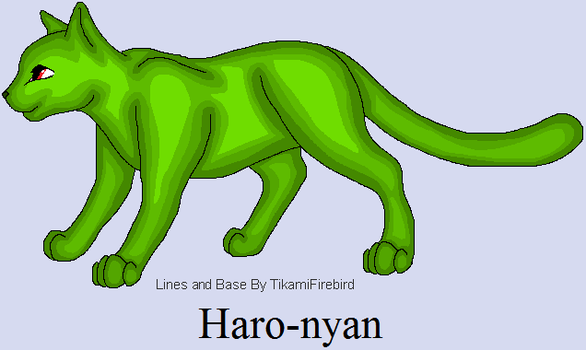 Haro-nyan concept (joke?) by CharGrilledAznable