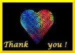 rainbow heart thank you by Dieffi