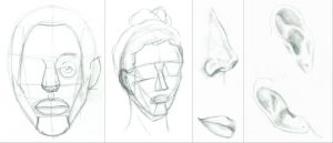 In Class Face Drawings by Ruler-of-Mars
