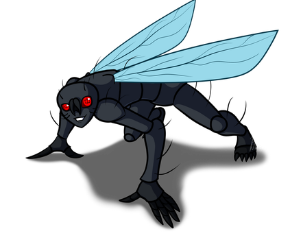 The Fly-Girl on the Wall by AraghenXD
