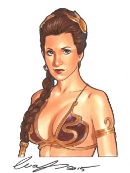 Slave Leia Original by Elias-Chatzoudis