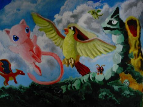 Acrylic Pokemon Commission by Corax2009