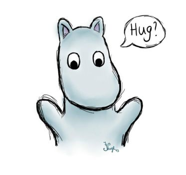 Moomin hug? by Irizzz-loves-drawing