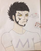 Dracule Mihawk with his new T-shirt by ABURAMEFANFOREVER