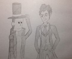 Professor Layton and the doctor by TheDogwhitaTail