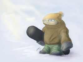 Snowboarder on the mountain by dragonmjos