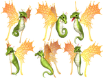 Fantasy Fairy Dragon 04 PNG Stock by Roy3D