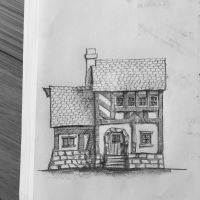 House Drawing in the Style of SirInkman by HusseinHorack