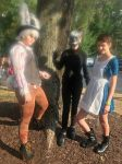 White Rabbit, Mr. chesire, And Alice cosplay by missmazky