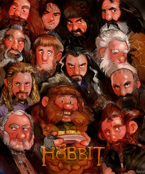 The Hobbit Poster parody by Barukurii